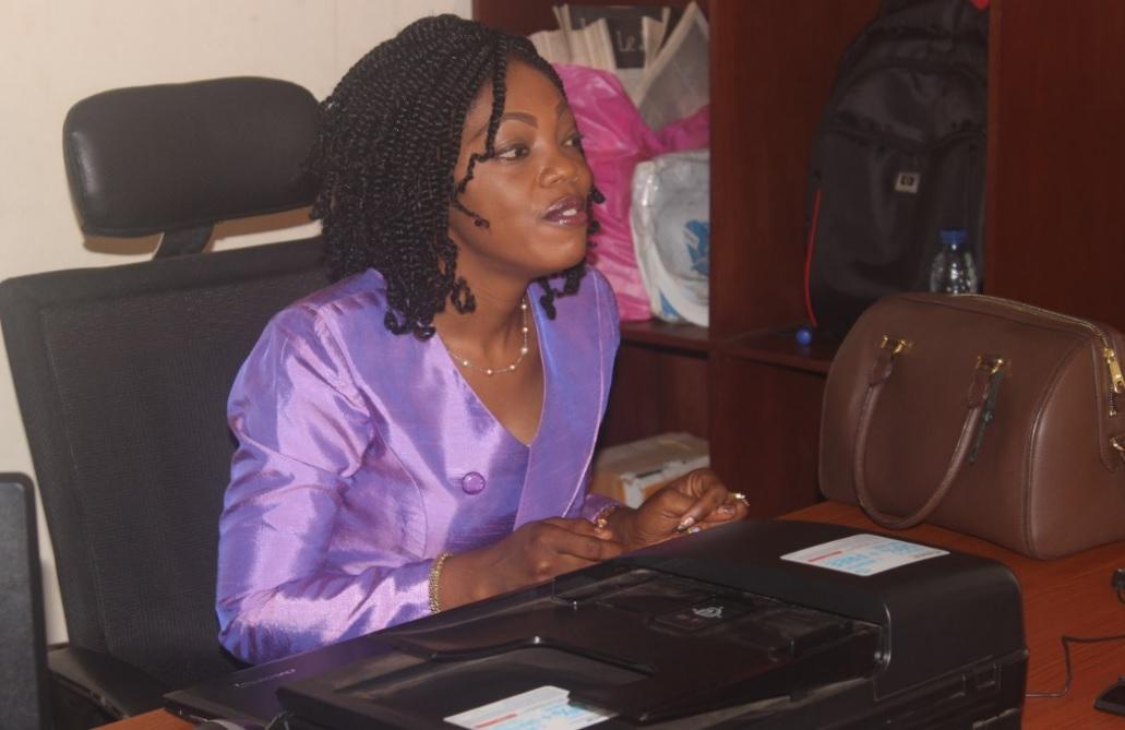 Le Dr Corine Esse, consultant, partage avec les participants l'expérience du ministère des Travaux publics.